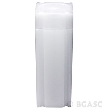 Bulk Quarter Coin Tubes 25 Cent - CoinSafe 25.5mm T-QTR-40100L - 100 Count Display Box - Image