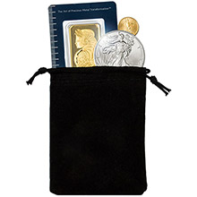 Small Velveteen Treasure Bag - Black 3x4 (Empty)