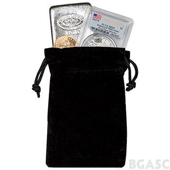 Medium Velveteen Treasure Bag - Black 4x6 (Empty)