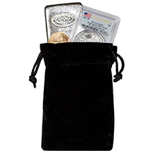 Medium Velveteen Treasure Bag - Black 4x6 (Empty)