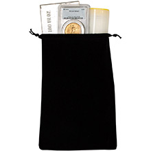 Large Velveteen Treasure Bag - Black 6x9 (Empty)