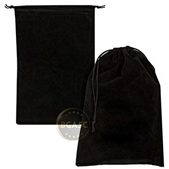 Large Velveteen Treasure Bag - Black 6x9 Empty - Image