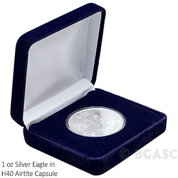 Empty Velvet Gift Box for Silver Eagle 1 oz Coins - Image