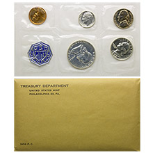 1956 Unopened & Sealed US Silver Proof Coin Set In Mint Envelope