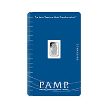 1 gram Platinum Bar Pamp Suisse Fortuna .9995 Fine (in Assay)