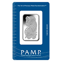 1 oz Platinum Bar Pamp Suisse Fortuna .9995 Fine Bullion Ingot (in Assay)