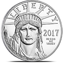 2017 1 oz Platinum American Eagle Bullion Coin .9995 Fine Brilliant Uncirculated