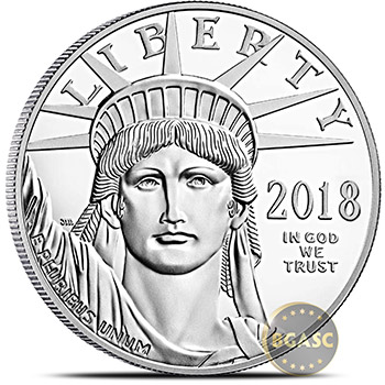 2018 1 oz Platinum American Eagle Bullion Coin .9995 Fine Brilliant Uncirculated