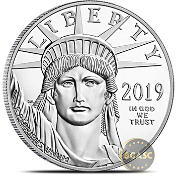 2019 1 oz Platinum American Eagle Bullion Coin .9995 Fine Brilliant Uncirculated