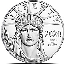 2020 1 oz Platinum American Eagle Bullion Coin .9995 Fine Brilliant Uncirculated