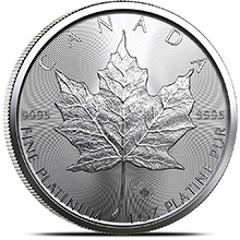 2021 1 oz Platinum Canadian Maple Leaf BU Bullion Coin .9995 Fine