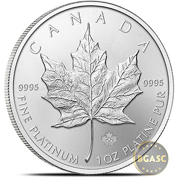 1 oz Platinum Canadian Maple Leaf BU Bullion Coin .9995 Fine Random Year - Image