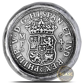 1 oz Silver 4 Reales Coin Replica MK BarZ .999 Fine 3D Art Round