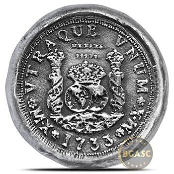 1 oz Silver 4Reales Replica Coin MK BarZ .999 Fine 3D Art Round - Image