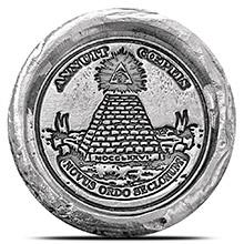 1 oz Silver Illuminati MK BarZ .999 Fine 3D Art Round