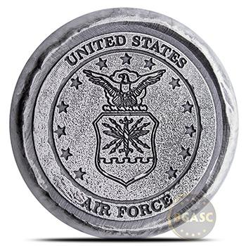 1 oz Silver U.S. Air Force Tribute by MK BarZ .999+ Fine 3D Art Round
