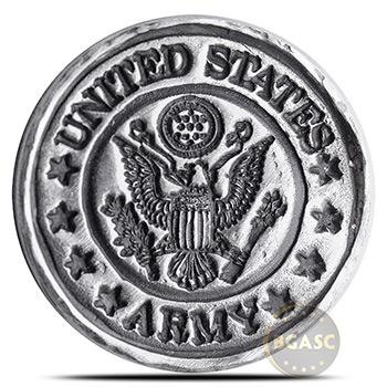 1 oz Silver U.S. Army Tribute by MK BarZ .999+ Fine 3D Art Round