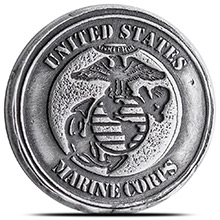 1 oz Silver U.S. Marine Corps Tribute by MK BarZ .999+ Fine 3D Art Round