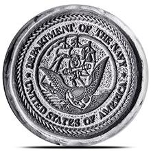 1 oz Silver U.S. Navy Tribute by MK BarZ .999+ Fine 3D Art Round
