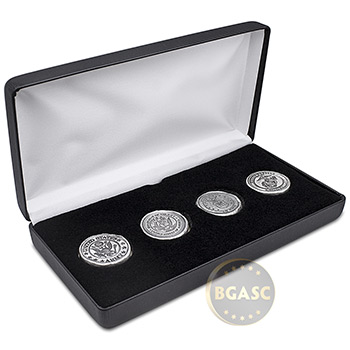 4-Piece Silver U.S. Military Armed Forces Tribute .999+ Fine Art Rounds - Boxed Set