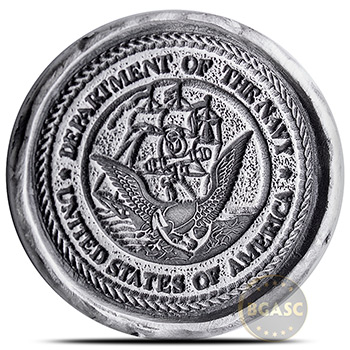 4-Piece Silver U.S. Military Tribute .999+ Fine Art Rounds Boxed Set - Image