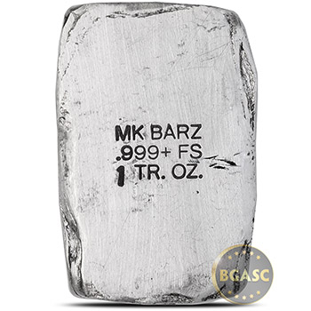 1 oz Silver Knight's Templar Cross MK BarZ .999 Fine 3D Art Bar - Image