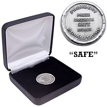 1 oz Silver President Trump Make America Safe Again in Box with Certificate of Authenticity