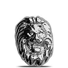1 oz Silver Lion Head Yeager's Poured .999 Fine 3D Art Bar