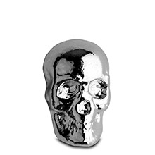 1 oz Silver Skull Yeager's Poured .999 Fine 3D Art Bar