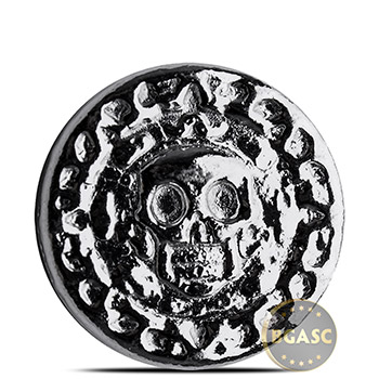 25 gram Silver Plata Muerta Yeager's Poured (0.8 troy oz) .999 Fine 3D Art Round