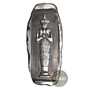 2 oz Silver Egyptian Pharoah Hatshepsut Tomb MK BarZ .999 Fine 3D Art Bar