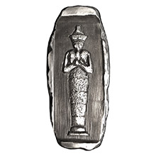 2 oz Silver Egyptian Pharoah Hatshepsut Tomb MK BarZ .999 Fine 3D Art Bar