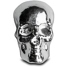 3 oz Silver Skull Monarch .999 Fine Poured Silver Bullion 3D Art Bar