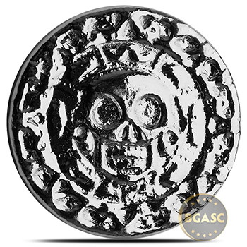 50 gram Silver Plata Muerta Yeager's Poured (1.6 troy oz) .999+ Fine 3D Art Round