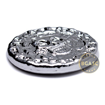 50 gram Silver Plata Muerta Dead Silver Yeager's Poured .999 Fine 3D Art Round - Image