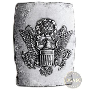 5 oz Silver Art Bar E Pluribus Unum Eagle MK BarZ .999 Fine (w/ COA)