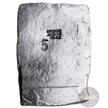 5 oz Silver Art Bar E Pluribus Unum Eagle MK BarZ .999 Fine w COA - Image