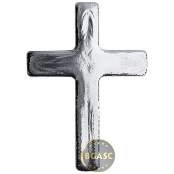 5 oz Silver Cross Yeager's Poured .999 Fine 3D Art Bar