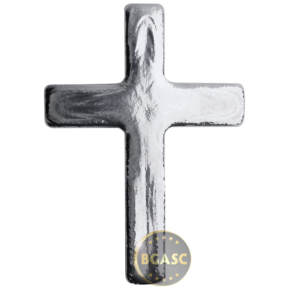 Buy 5 Oz Silver Cross Yeager S Poured 999 Fine 3d Art Bar