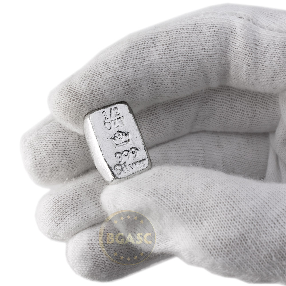 Buy 1 2 Oz Silver Bars Monarch Hand Poured 999 Fine