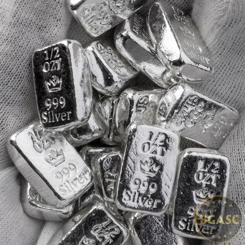 Buy 1 2 Oz Silver Bars Monarch Hand Poured 999 Fine