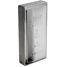 100 oz Silver Bar Academy .999 Fine Stackable Bullion Ingot (Secondary Market)