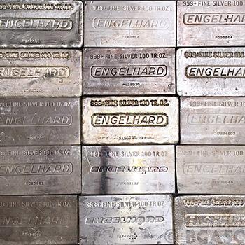 100 oz Engelhard Silver Bar - Various Styles - Image