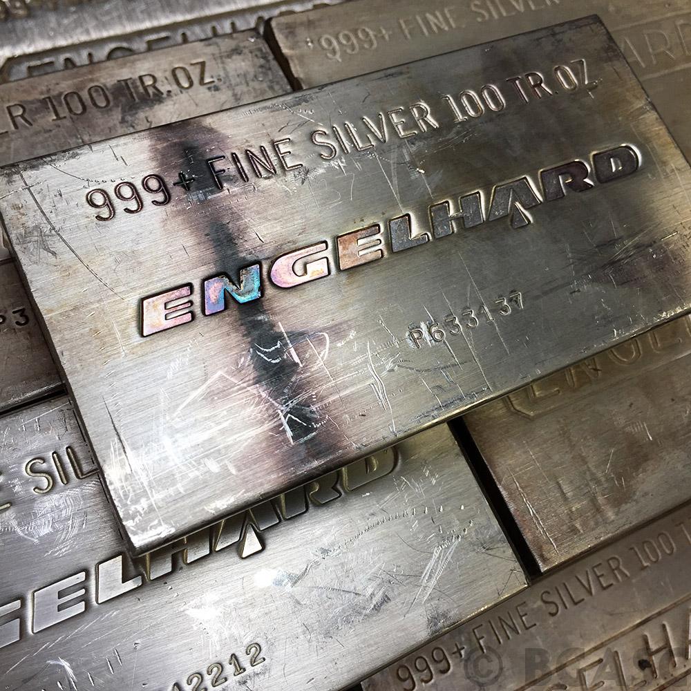 Buy 100 Oz Silver Bar Engelhard 999 Fine Various Styles