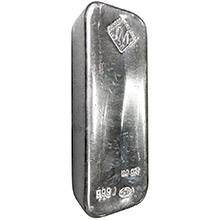 100 oz Silver Bar Johnson Matthey .999 Fine Bullion Ingot (Secondary Market)