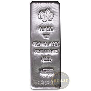 100 oz Silver Bar PAMP Suisse Cast .999 Fine Bullion Ingot