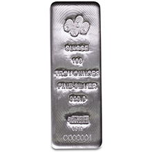 100 oz Silver Bar PAMP Suisse Cast .999 Fine Bullion Ingot (w/ Assay)