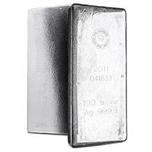 100 oz Silver Bar Royal Canadian Mint RCM .9999 Fine Bullion Ingot (Secondary Market)