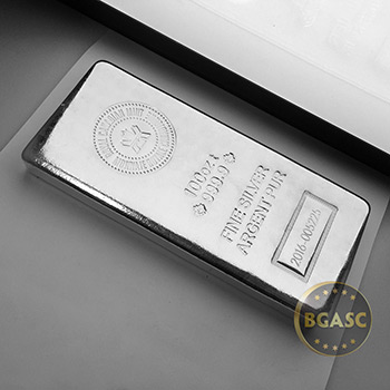 Royal Canadian Mint 100 oz Silver Bullion Bar, .9999 Fine Silver - Image
