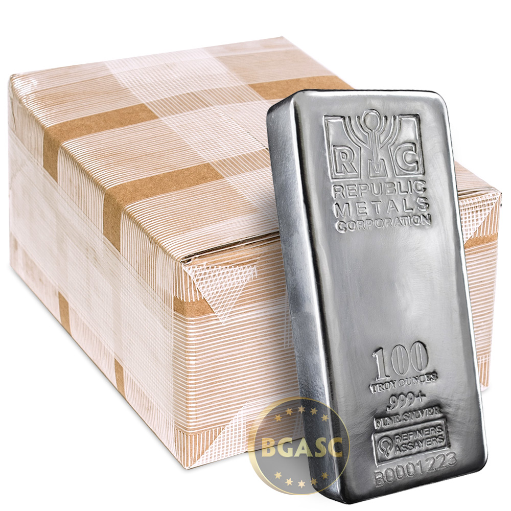 Buy Monster Box Of 100 Oz Silver Bars Republic Metals Rmc